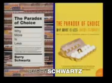 Barry Schwartz on the paradox of choice